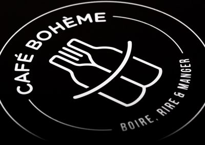 Café Bohême – Plaque