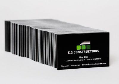EG Constructions Cartes de visite