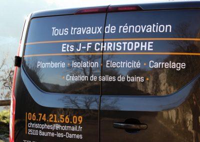 Entreprise J-F Christophe - Véhicule