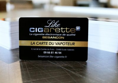 Like Cigarette Cartes pvc