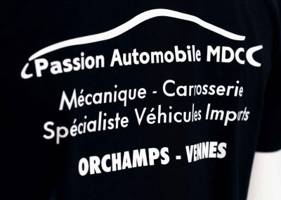 Passion Automobile – Tee shirt – Sérigraphie – 1