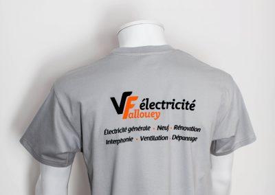 VF Electricité – Tee shirt – Sérigraphie