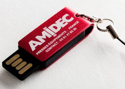 Amidec clé USB gravure laser