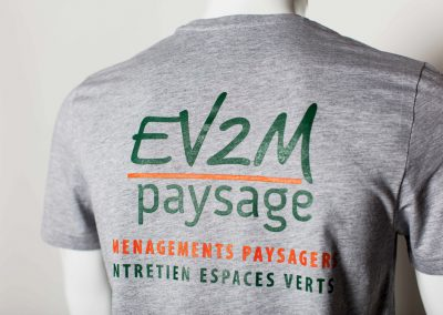 EV2M tee shirt sérigraphie