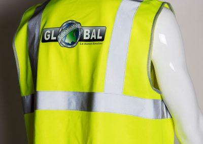 Gilet HV Global Signalisation flex numérique