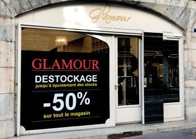 Glamour banderole publicitaire