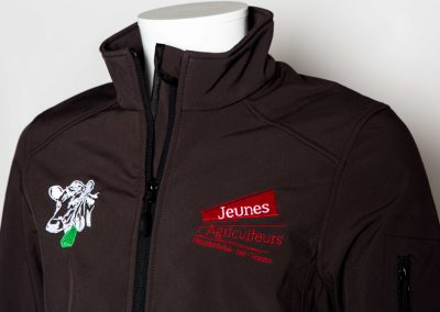 Jeunes Agriculteurs softshell broderie